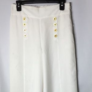 1. State White High Waist Sailor Pant Size